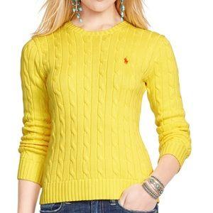 Ralpher lauren crew neck yellow sweater